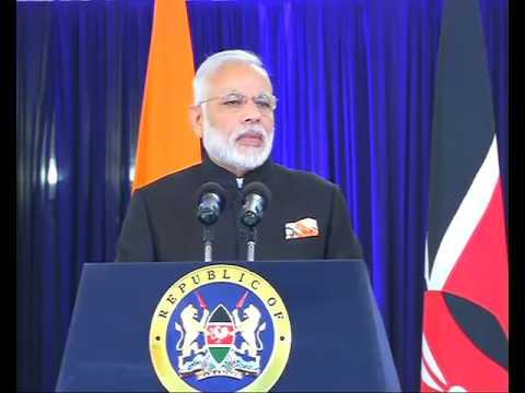 PM Shri Narendra Modi addresses press statements in Nairobi, Kenya