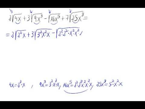 raíces con diferentes índices - En este vídeo se calcula una operación en la que aparecen sumas y restas de radicales con distinto radicando.