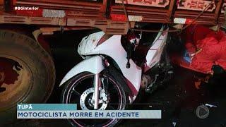 Motociclista morre após bater em traseira de caminhão no centro de Tupã