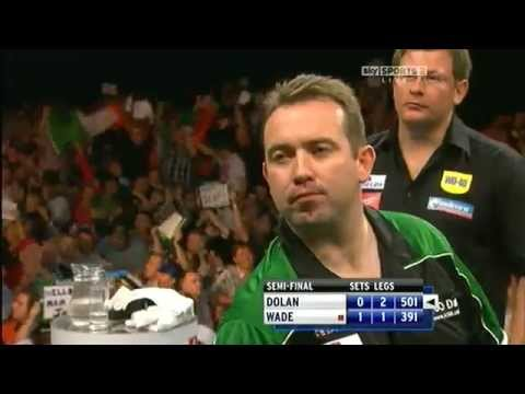darter - Brendan Dolan hits the 1st ever live double in double out 9 darter in the semi final of the world grand prix 8/10/2011 All rights belong to BSKYB, no copyrig...