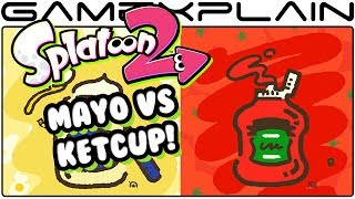 It's a clash of the condiments as the first Splatfest for Splatoon 2 has been announced, Mayo vs Ketchup! Get all the details here!---------------------------------Follow GameXplain!---------------------------------➤ PATREON:  https://www.patreon.com/GameXplain➤ FACEBOOK:: http://www.facebook.com/gamexplain➤ TWITTER: http://twitter.com/GameXplain➤ INSTAGRAM: https://www.instagram.com/gamexplain_official➤ GOOGLE+: https://plus.google.com/108004348435696627453⮞ Support us by shopping @ Play-Asia- http://www.play-asia.com/?tagid=1351441 & @ AMAZON- http://geni.us/wq8 ⮜