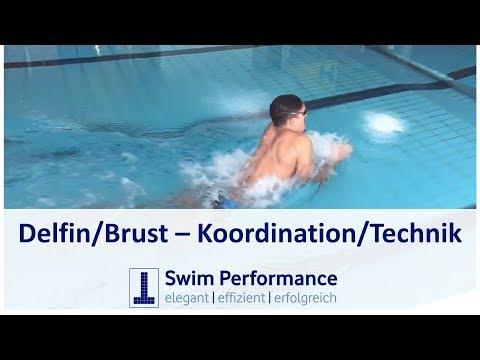 Technik- und Koordinationsübung für Delphin und Brust /Ideal für das Einschwimmen beim Wettkampf