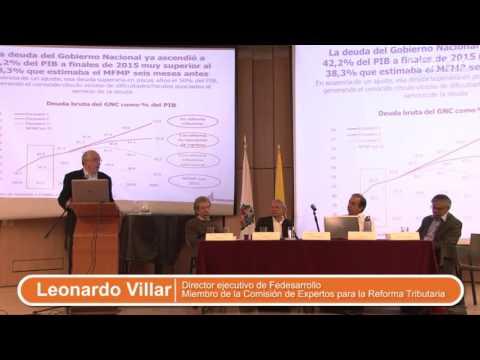 Leonardo Villar en Debate CID sobre la Reforma Tributaria Estructural