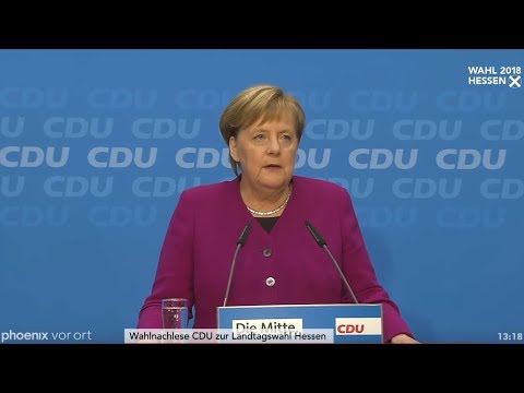 Pressekonferenz CDU zur Wahl in Hessen und zum Verzicht von Merkel auf den Parteivorsitz am 29.10.18