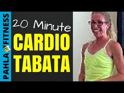 20 Minute Tabata Style Cardio Follow Along Workout
