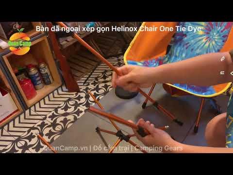 Ghế xếp dã ngoại Helinox Chair One Tie Dye và Bàn xếp dã ngoại Table Hard One Tie Dye   QuânCamp.vn