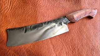 Video Knife Making- Forging a Vegetable Cleaver from a Leaf Spring MP3, 3GP, MP4, WEBM, AVI, FLV Januari 2019