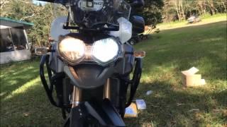 10. Cyclops H4 LED install, Triumph Tiger Explorer