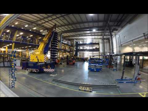 AmbaFlex installation of Spiral Conveyor with Crane