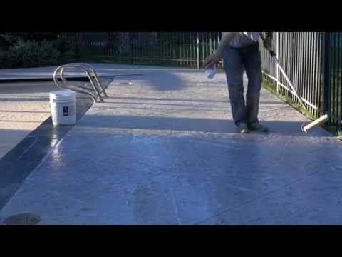How to stain & seal an old pool deck