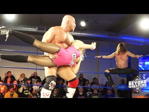 [Free Match] Chris Dickinson v Joey Janela & Penelope Ford | Beyond Wrestling (Intergender Handicap)