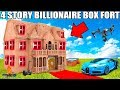 4 Story Billionaire Box Fort Challenge movie Theatre Dr
