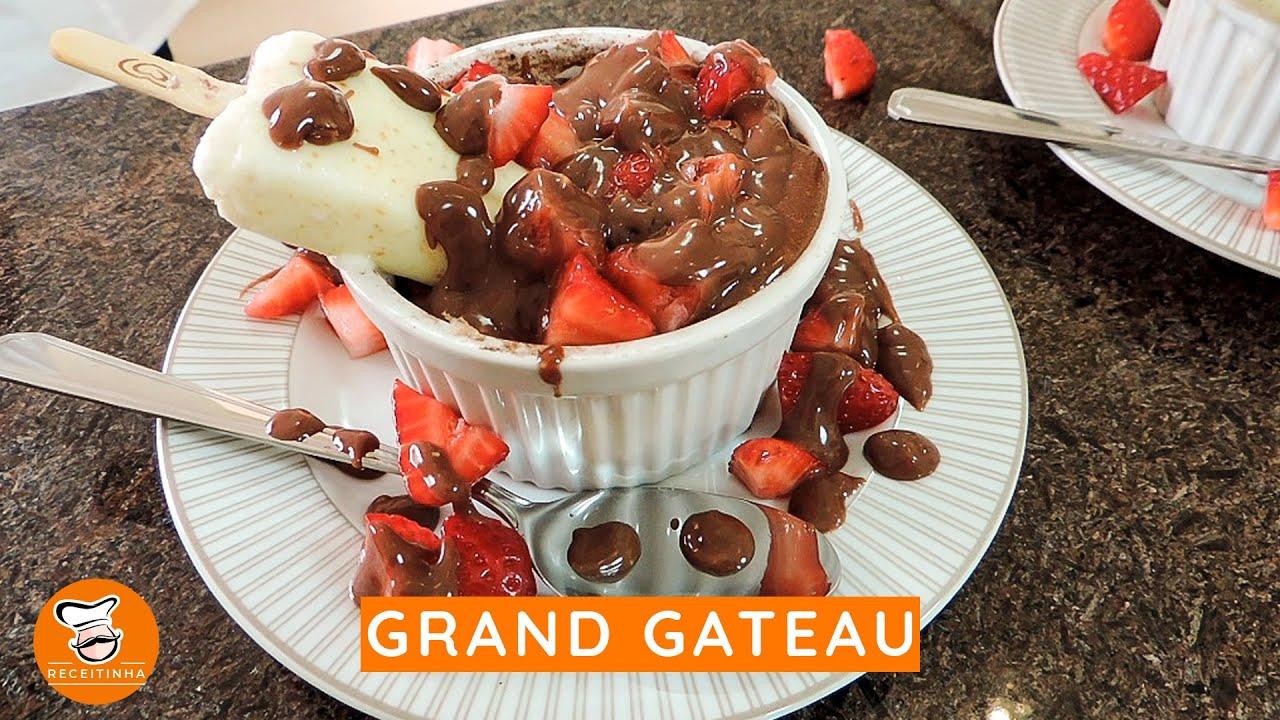 #27 - Grand Gateau com Calda de Morango e Ganache de Diamante Negro