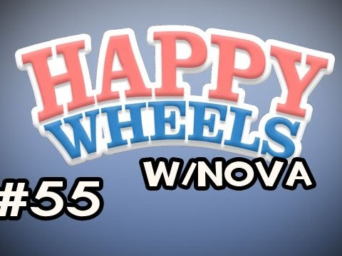 Happy Wheels w/Nova Ep.55 - Killing The Boss AGAIN & Rope Swings Everywhere! Video
