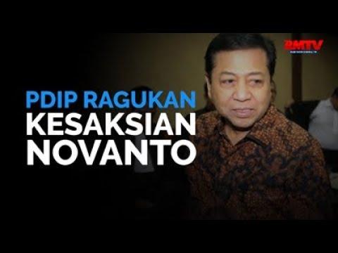 PDIP Ragukan Kesaksian Novanto