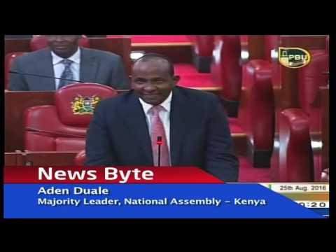 Hon Aden Duale insults Hon Ababu Namwamba over party hopping