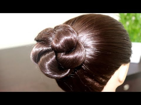 Simple Easy Bun Hairstyle For Beginners Party Youtube Search Ru