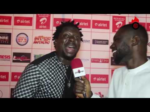 Hilarious Red carpet interview with klint d drunk