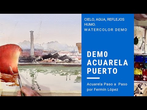 Video Demostración Acuarela Puerto De Mar