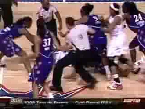 Brawl at the Palace redeux…WNBA fight