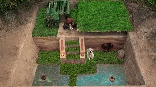 Building Greatness House Underground,Dog House And Fish Pond