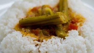 Sambhar in tamil(mango,drumstick,brinjal)