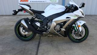 9. $15,099:  2017 Kawasaki ZX10R Ninja Pearl Blizzard White Overview and review