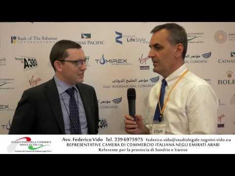 Intervista Avv. Federico Vido - Gulf International Congress 2016