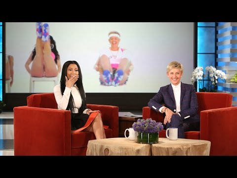 Nicki Minaj Reacts to Ellen's 'Anaconda' (видео)