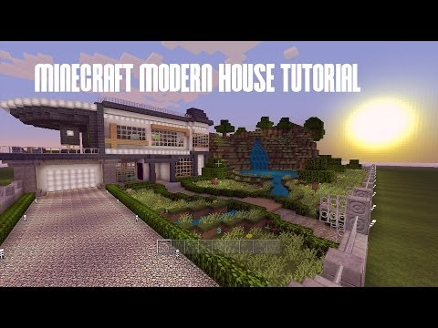 Minecraft Build Tutorial -- Modern House -- City Texture Pack (1/15) Walkthrough