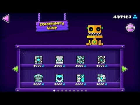 Community Shop + Re-looting Shopkeeper & Scratch's Shop! [Geometry Dash 2.11]