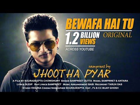 Jhootha Pyar | Sampreet Dutta | Bewafa hai tu | heart touching song | hindi sad song | rap song