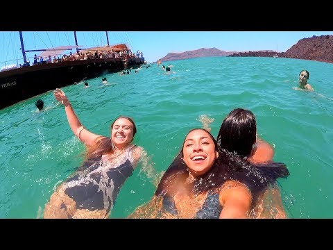 I Swam in a Volcano | Santorini, Greece