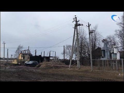 Место трагедии в Волотове посетил губернатор Андрей Никитин