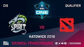 Spirit vs No Creativity, ESL One Katowice CIS, game 1 [Jam, CrystalMay]