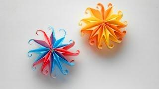 Декор украшение из бумаги. Простые бумажные поделки