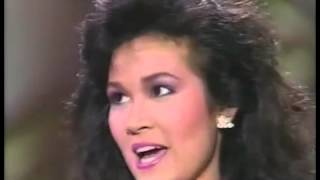 Miss Universe 1988 Semi-Finalist Interview - Miss Thailand