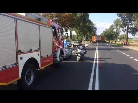 Wideo1: Wypadek na DK 5 w Klonówcu