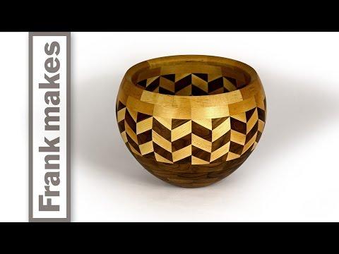 Segmented Wood Turned Wedding Bowl by Frank Howarth