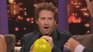 ROVE LA - Seth Green, Olivia Munn & Michael Weatherly on helium