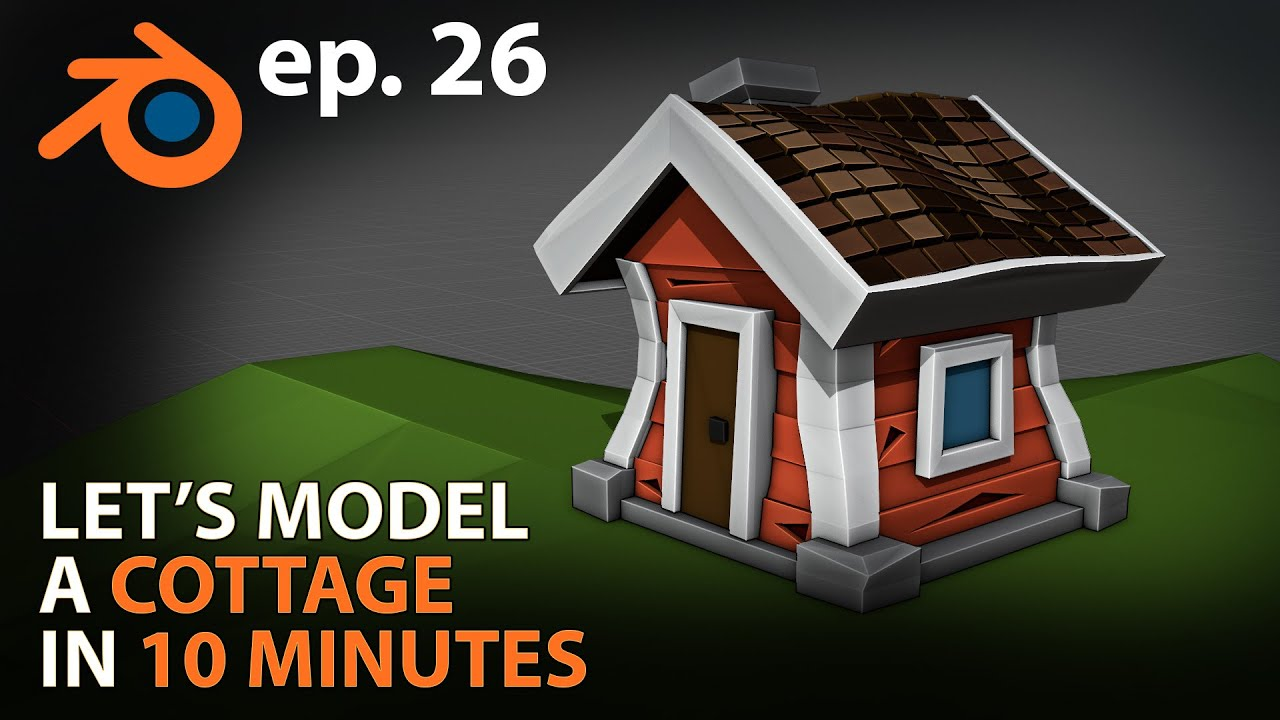 learn to 3d model a cottage under 10 minutes using blender 2.83 by imphenzia