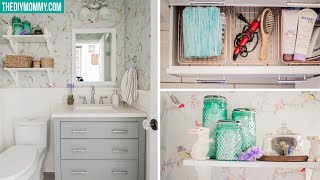 SMALL BATHROOM ORGANIZATION | Dollar & Thrift Store Finds!