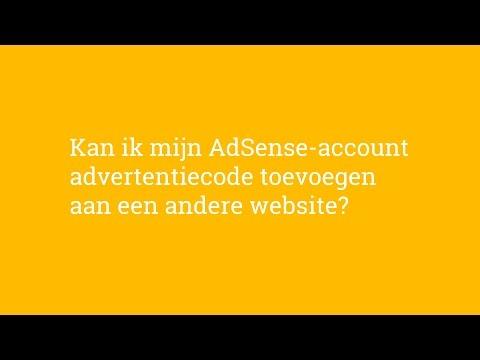 Hoe Kan ik mijn AdSense-account advertentiecode toevoegen aan een andere website?