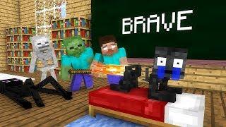 Video Monster School: Brave - Minecraft animation MP3, 3GP, MP4, WEBM, AVI, FLV Juli 2018