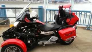 10. New Kewl Metal air intake on Teds Red Sled (2011 Can-Am Spyder RT-S SpyderFest Eddition)