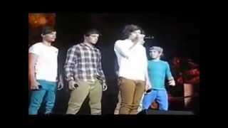 Los chicos molestando a Harry Styles en pleno concierto ;D
