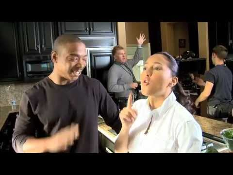 """Ja Rule & Adrienne Bailon on the set of """"I'm In Love With a Church Girl"""""""