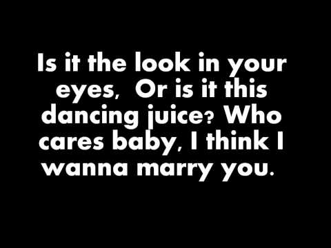 Bruno Mars – Marry You (Lyrics On Screen)