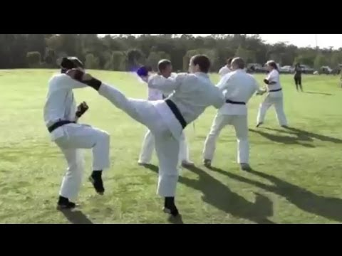 Best Friends Fighting Goju Ryu Karate Kumite