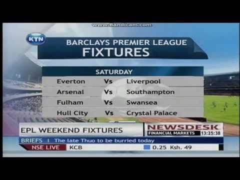 EPL Weekend Fixtures